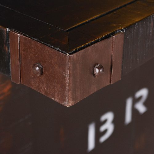 Graphics Collection - Wine bar with 12 bottle storage - deecorative metal corner detail - HH-8725-175