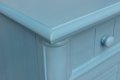 Ice Cream at the Beach Collection - Dresser - 0150 finish - top and side detail - CF-1730-0156