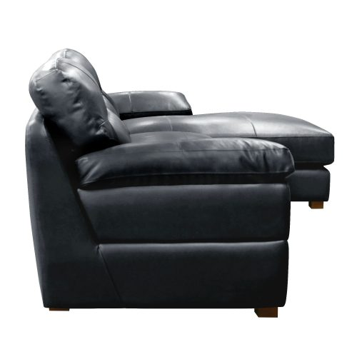 Jayson Right Facing Chaise Sofa in Black - Side view - SU-JH3780-2P