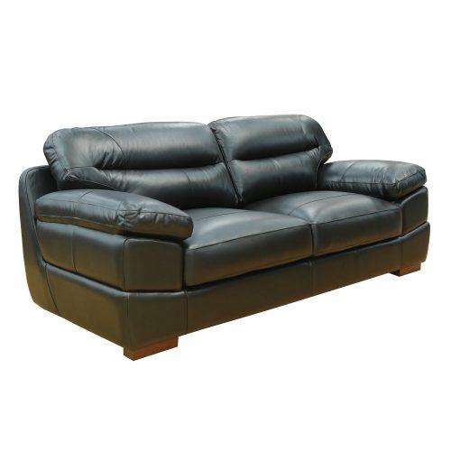 Jayson Sofa in Black - Three quarter view - SU-JH3780-301SPE