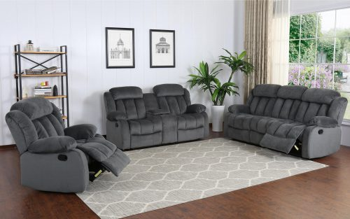 Madison Collection - Reclining sofa - loveseat- armchair - shown in Charcoal - SU-ZY550