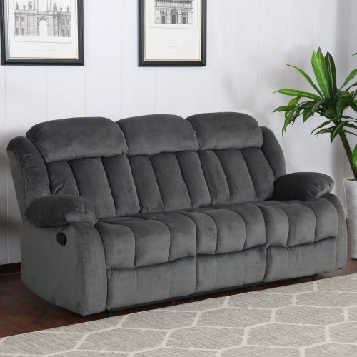 Madison Collection - Reclining sofa shown in Charcoal living room setting - three-quarter view- SU-ZY550-305