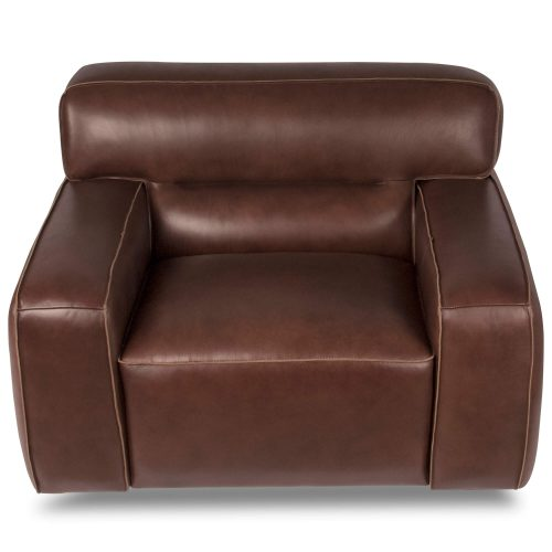 Milan Leather Collection - Armchair in brown - top view - SU-AX6816-C