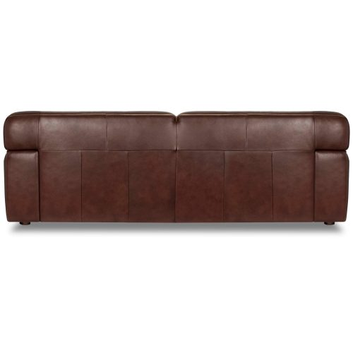 Milan Leather Sofa - back view – Brown SU-AX6816-S