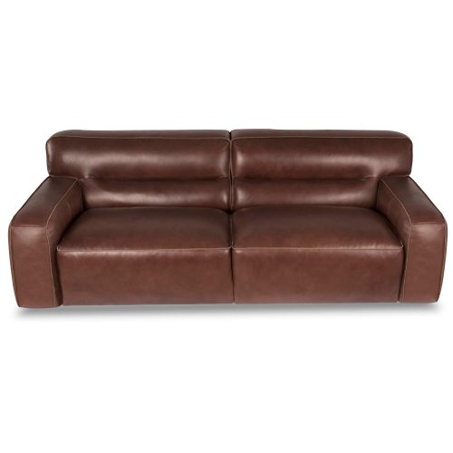 Milan Leather Sofa - top front view – Brown SU-AX6816-S
