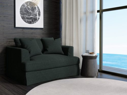 Newport Slipcovered Collection - Chair & 1/2 - Dark Gray - lifestyle view - SY-130015-391098