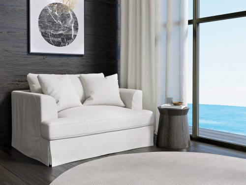 Newport Slipcovered Collection - Chair & 1/2 - White - lifestyle view - SY-130015-391081