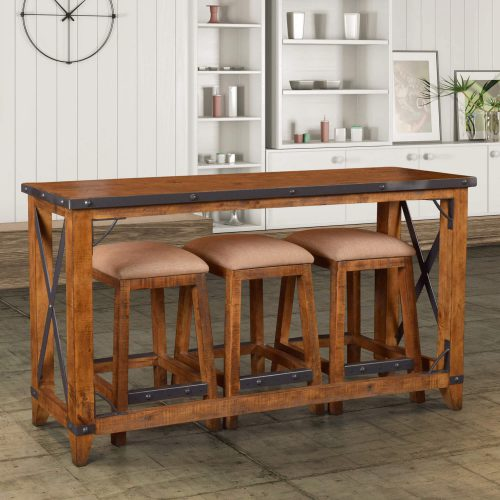 Rustic Collection - Counter height dining set with stools - room setting - HH-8365-4PC