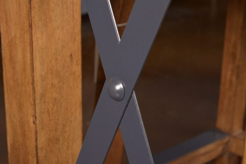 Rustic Collection - Counter height dining table - cross-brace metal hardware detail - HH-8365-175