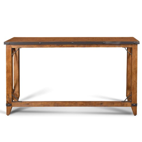 Rustic Collection - Counter height dining table - front view.- HH-8365-175