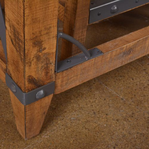 Rustic Collection - Counter height dining table - leg and hardware detail - HH-8365-175