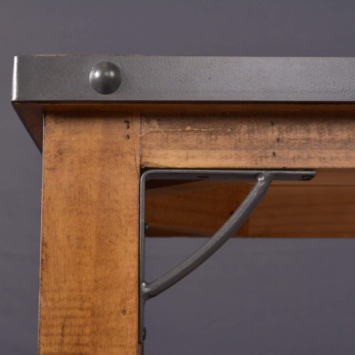 Rustic Collection - Counter height dining table - top corner detail of metal accents - HH-8365-175