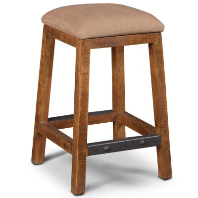 Rustic Collection - Counter height upholstered stool - HH-8366-024