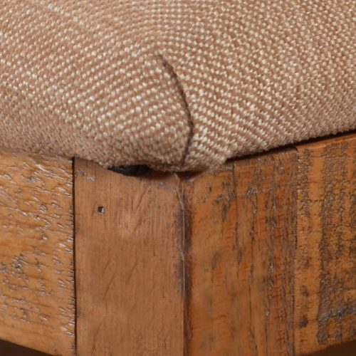 Rustic Collection - Counter height upholstered stool - seat detail - HH-8366-024