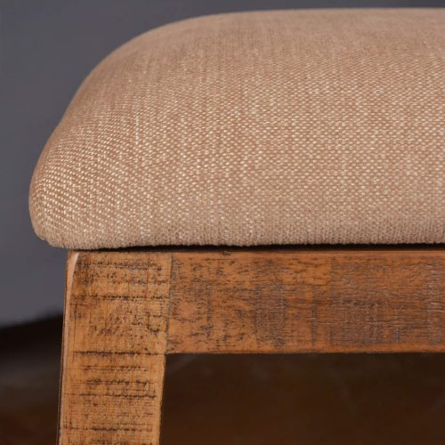 Rustic Collection - Counter height upholstered stool - seating detail - HH-8366-024
