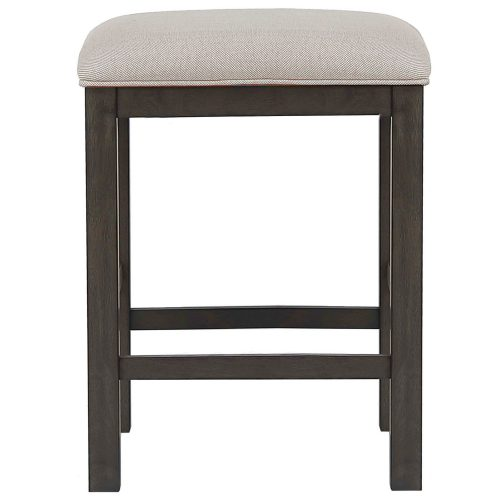 Shades of Gray Collection - Backless upholstered barstool - front view - DLU-EL-B300