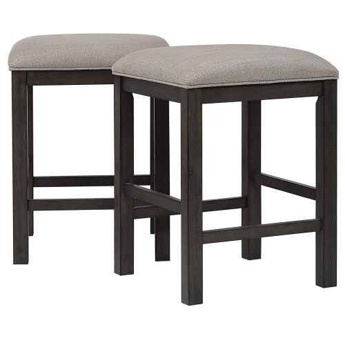 Shades of Gray Collection - Backless upholstered barstool - paired view - DLU-EL-B300