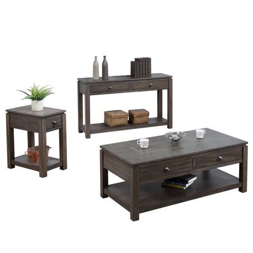 Shades of Grey Collection - narrow end table - sofa console - coffee table DLU-EL1602-03-04-08