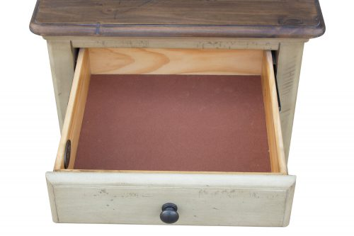 Shades of Sand End table - drawer open - CF-2391-0490