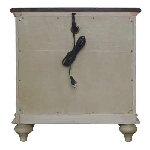 Shades of Sand Nightstand - back view - CF-2336-0490