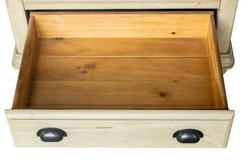 Shades of Sand Nightstand - bottom drawer open - CF-2336-0490