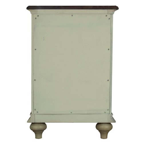 Shades of Sand Nightstand with door - back view - CF-2338-0490