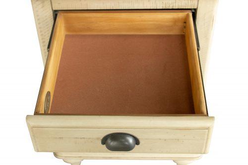 Shades of Sand Nightstand with door - drawer open - CF-2338-0490
