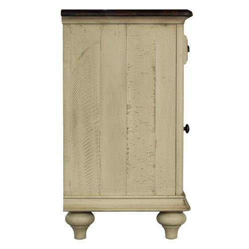 Shades of Sand Nightstand with door - side view - CF-2338-0490