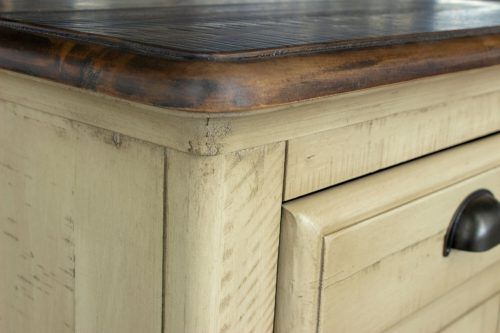 Shades of Sand Nightstand with door - top and side detail - CF-2338-0490
