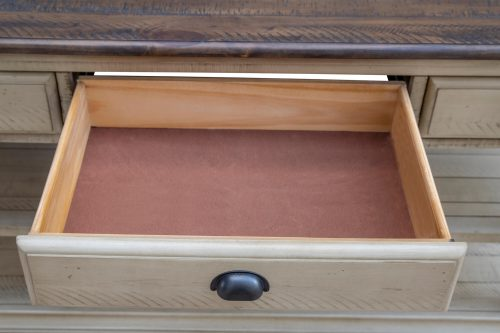 Shades of Sand Three drawer table - drawer open - CF-2392-0490