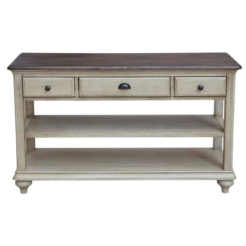Shades of Sand Three drawer table - front view - CF-2392-0490
