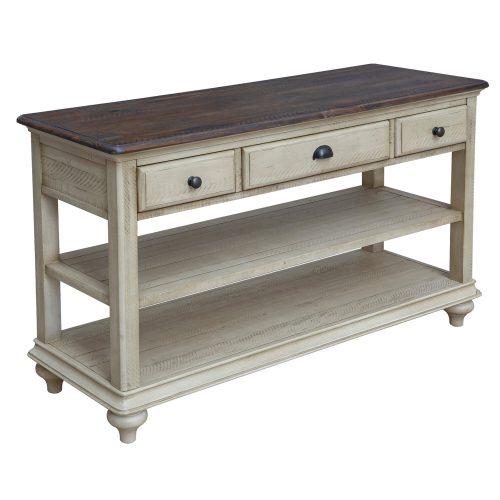 Shades of Sand Three drawer table - three-quarter view - CF-2392-0490