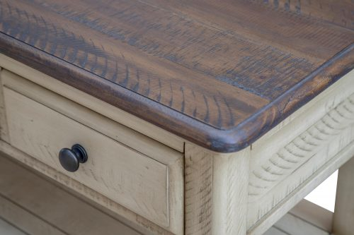 Shades of Sand Three drawer table - top and side detail - CF-2392-0490