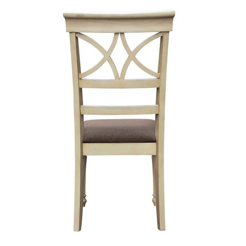 Shades of Sand Vanity chair - back view - CF-2375-0489