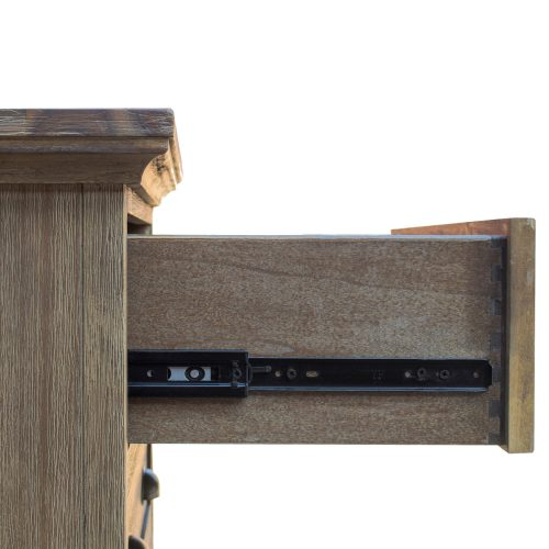 Solstice Gray Collection - Dresser - drawer open showing hardware - CF-3030-0441