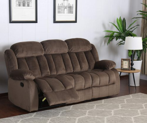 Teddy Bear Collection - Reclining sofa - living room setting three-quarter view partial recline - SU-ZY660-305