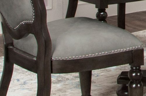 Vegas Collection Gaming chair - seat upholstery and decorative metal accents detail - CR-87711