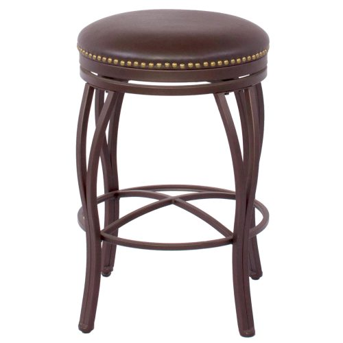 Victoria Dining Collection - Backless Swivel Count stool - front view - CR-J3005-24-RTA