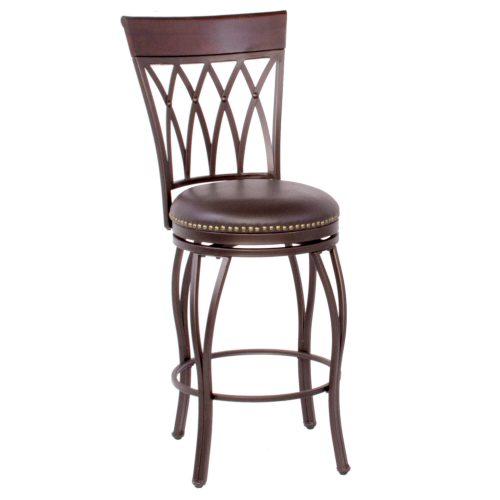 Victoria Dining Collection - Highback Swivel Barstool - three-quarter view - CR-J3009-24-RTA