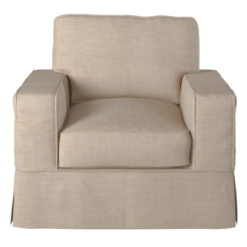 Americana Slipcovered Collection - Chair front view SU-108520-466082