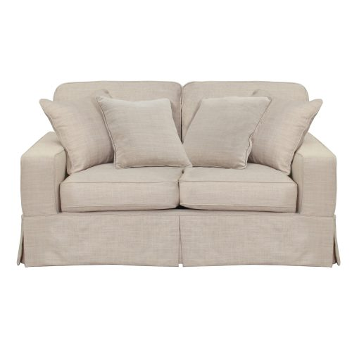 Americana Slipcovered Collection - Loveseat - front view SU-108510-466082