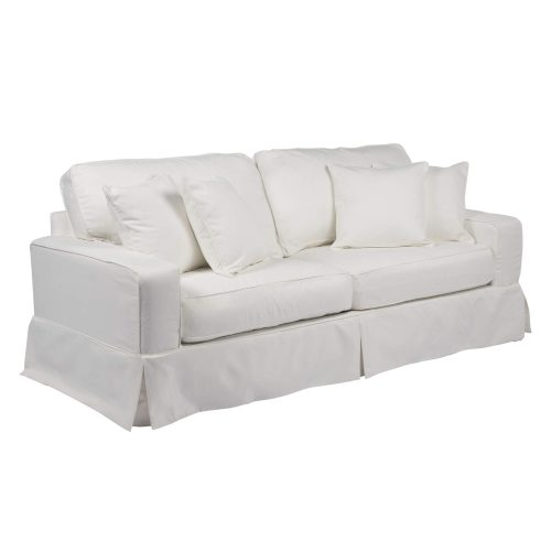 Americana Slipcovered Collection - Sofa - three-quarter view with pillows SU-108500-391081