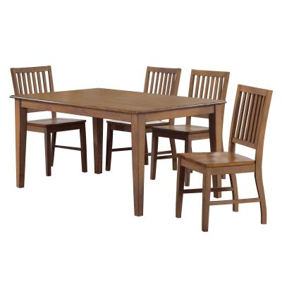 Amish Dining - 5-piece dining set - Rectangular dining table and four dining chairs DLU-BR3660-C60-AM5PC