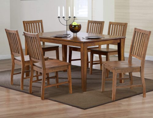 Amish Dining - 7-piece dining set - Rectangular extendable dining table and six dining chairs DLU-BR3660-AM
