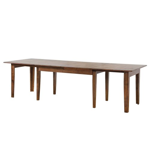 Amish Dining - Rectangular extendable dining table - partially extended DLU-BR134-AM