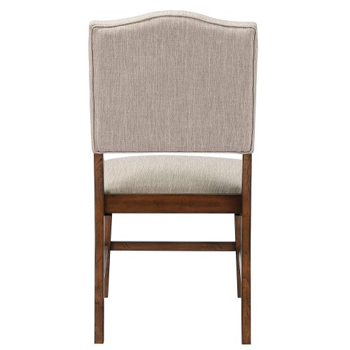 Amish Dining - Upholstered dining chair - back view DLU-BR-C85-AM-2