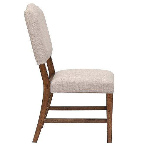 Amish Dining - Upholstered dining chair - side view DLU-BR-C85-AM-2