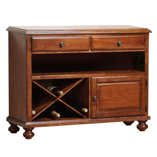 Andrews Dining Collection - Server in a Chestnut finish - three-quarter view with removable wine rack DLU-ADW-SER-CT