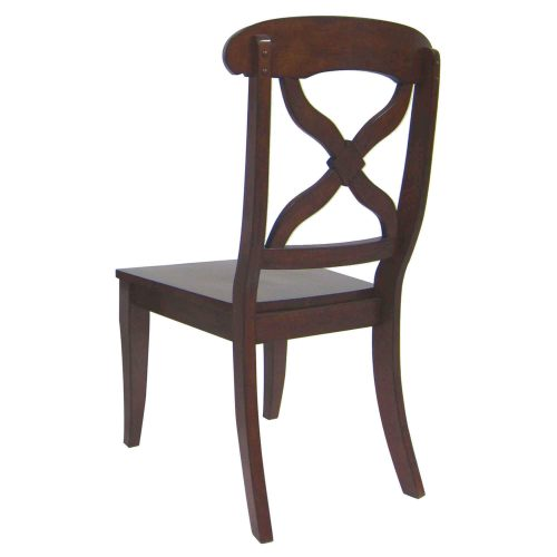 Andrews Dining - Dining chair chestnut finish - back view DLU-ADW-C12WD-CT-2