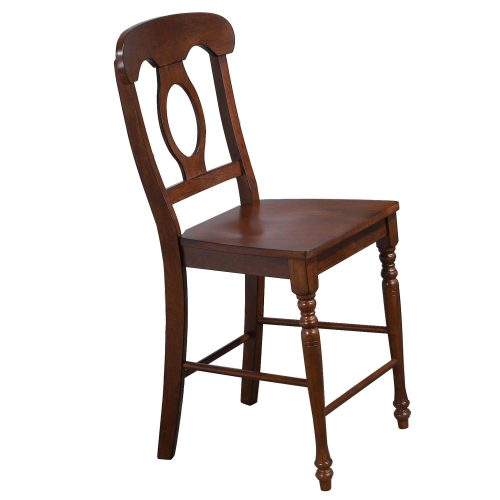 Andrews Dining - Napoleon barstool finished in distressed chestnut DLU-ADW-B50-CT-2